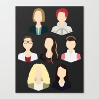 cosima Canvas Prints featuring Orphan Black Clone Club by Loverly Prints