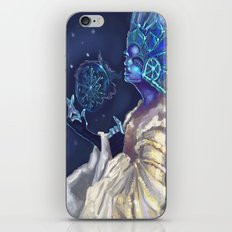 Snow Queen and a SnowFlake iPhone & iPod Skin
