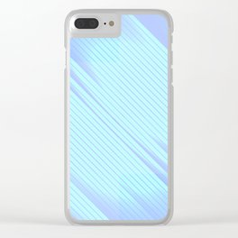 Soulmate - Abstract Geometric Minimalism Mint Lavender Clear iPhone Case