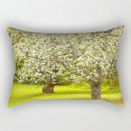 Flowering Apple Trees Rectangular Pillow