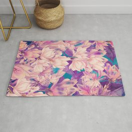 flowers magnolia #flowers #flora #pattern Rug