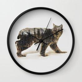 Arctic Lynx Wall Clock