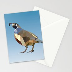 Geometric Quail Stationery Cards