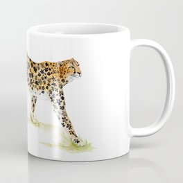 Flower Pattern Cheetah Coffee Mug