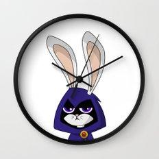 Bunny Raven Wall Clock