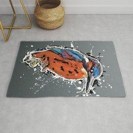 kingfisher bird art #kingfisher Rug