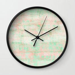 watermelon pixels Wall Clock