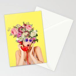 Woman in Rose Stationery Cards