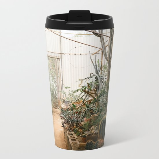 Desert Cactus and Succulent Garden, Palm Springs Metal Travel Mug