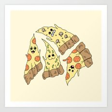 Ghost Pizzas Art Print