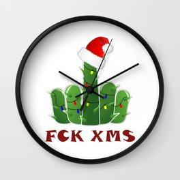 Fucktus | Christmas Cactus Flippin The Bird Wall Clock