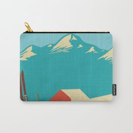 Vintage Mountains Carry-All Pouch