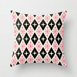Mid Century Modern Atomic Triangle Pattern 113 Throw Pillow