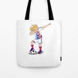 USA Soccer Player Dab Tote Bag