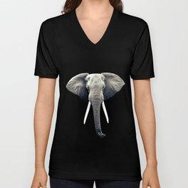 Elephant Portrait Unisex V-Neck