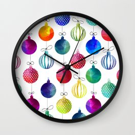 Merry Colorful Xmas Wall Clock