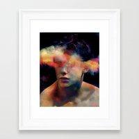 tchmo Framed Art Prints featuring Untitled 20121008r (Brad) by tchmo