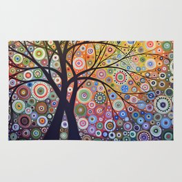 Abstract Art Landscape Original Painting ... Magic Garden Rug