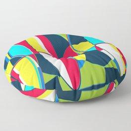Landscape Abstract Surfboards in Blues & Greens Floor Pillow