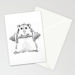 Hamster Workout Stationery Cards
