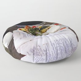 Buddist Food Offering Floor Pillow