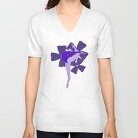 indigo V-neck T-shirts featuring Indigo by daniellepioli