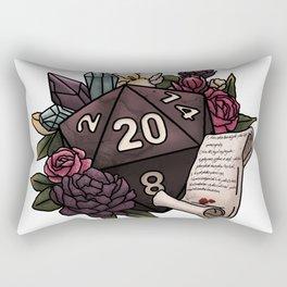 Warlock Class D20 - Tabletop Gaming Dice Rectangular Pillow