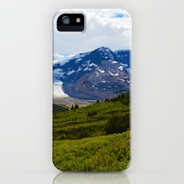 View along the Wilcox Pass Hike in Jasper National Park, Canada iPhone Case