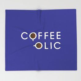 Coffeeolic Throw Blanket