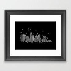 Atlanta, Georgia City Skyline  Framed Art Print