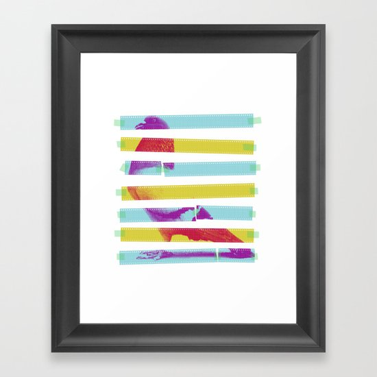 Striped Bird. Framed Art Print