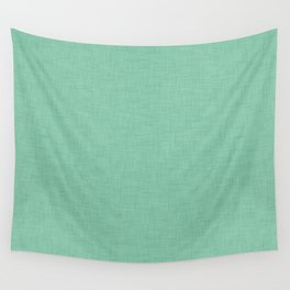Plain green fabric texture Wall Tapestry