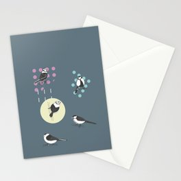 Birds And Dots Stationery Cards