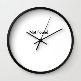 not found Wall Clock