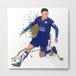 Jamie Vardy - Leicester City FC Metal Print
