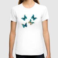 butterflies T-shirts featuring Butterflies by Brontosaurus