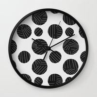 polka Wall Clocks featuring polka by spinL
