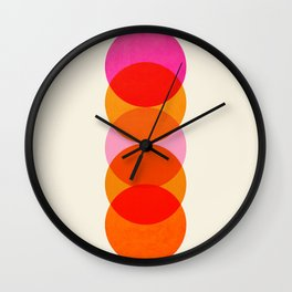 Abstraction_COLOUR_CIRCLES_001 Wall Clock