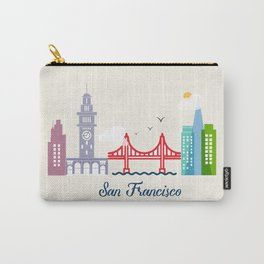 what a colorful city San Francisco, CA.  Carry-All Pouch