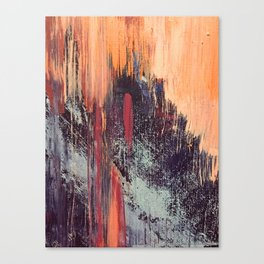 Night and Day: pretty abstract piece in orange, purple, and blues Canvas Print