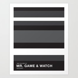 The Colors of Mr Game & Watch Art Print