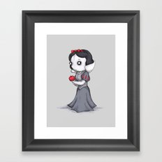 Snow Black, White & Red Framed Art Print