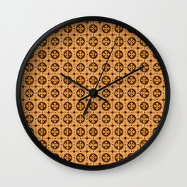Tile Pattern 2 Wall Clock