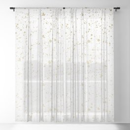 Los Angeles Nights Gold Paint Sheer Curtain