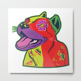Pit Bull Dog Colorful Abstract Art Digitalart Gift Metal Print