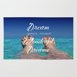 Dream Your Most Wonderful Dreams - Ocean Beach Swim Rug