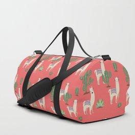 Llama with Cacti Duffle Bag