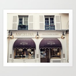 Paris, Angelina Patisserie Art Print