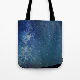 Milky Way Over the Tetons Tote Bag