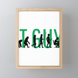 IT Guy Evolution Information Technology Computer Framed Mini Art Print